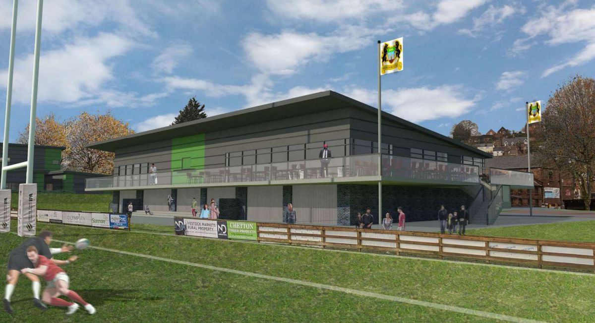 An artist's impression of the new elevated clubhouse