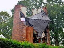 PICTURED: Gas explosion destroys Wolverhampton windmill