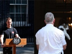 From 'hot lectern guy' to Larry the cat: Twitter reacts to May's resignation