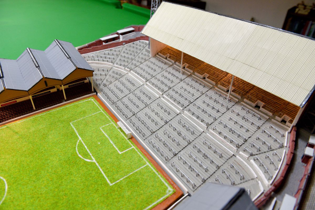 The terrace how it would have looked on the old South Bank stand
