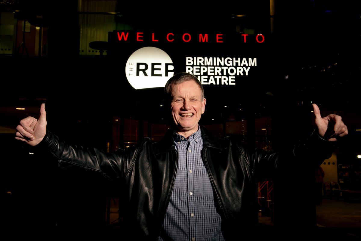 Dave Heeley at the screening at The Rep Theatre in Birmingham