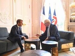 Bonhomie but no Brexit breakthrough as Johnson and Macron meet
