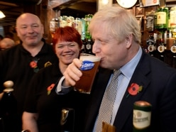 GALLERY: Boris Johnson pulls pint in Wolverhampton after Remembrance Day service