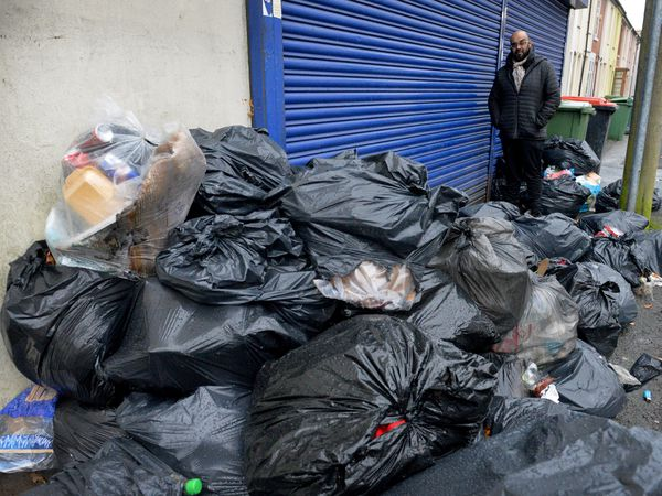 Microtek shop owner Arrun Shibber says that fly tipping around Dudley Road in Blakenhall, Wolverhampton, is getting 'out of hand'