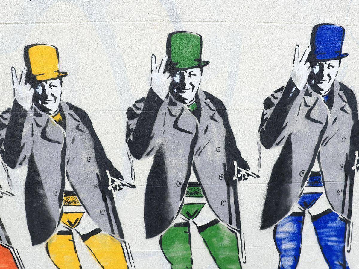 Winston Churchill mural