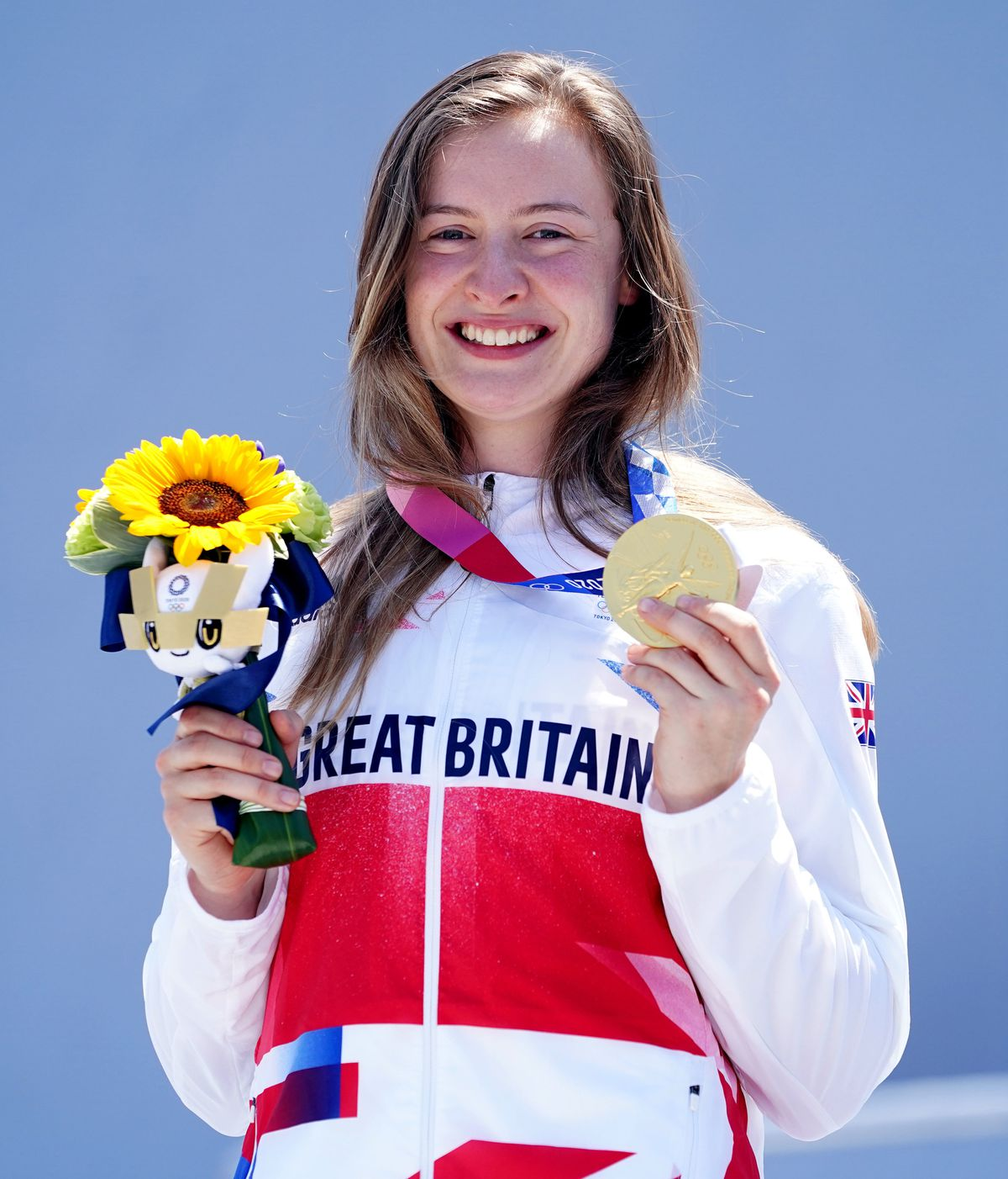 Team GB's Charlotte Worthington took gold in the women s BMX freestyle Final in Tokyo. Photo: Mike Egerton/PA Wire