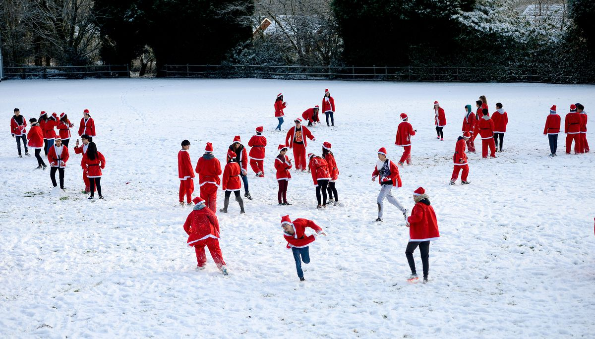 The Santa Run at Tettenhall College