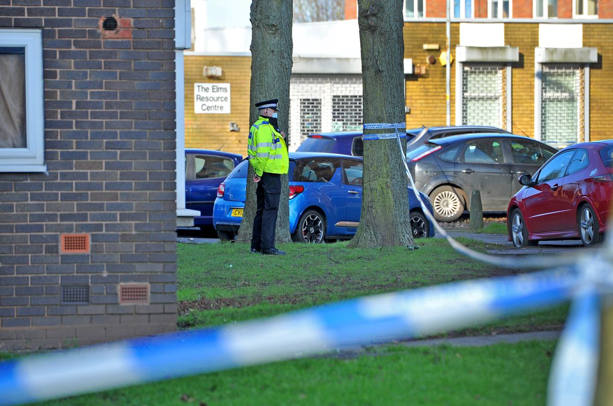 Police at the scene in Whitmore Reans
