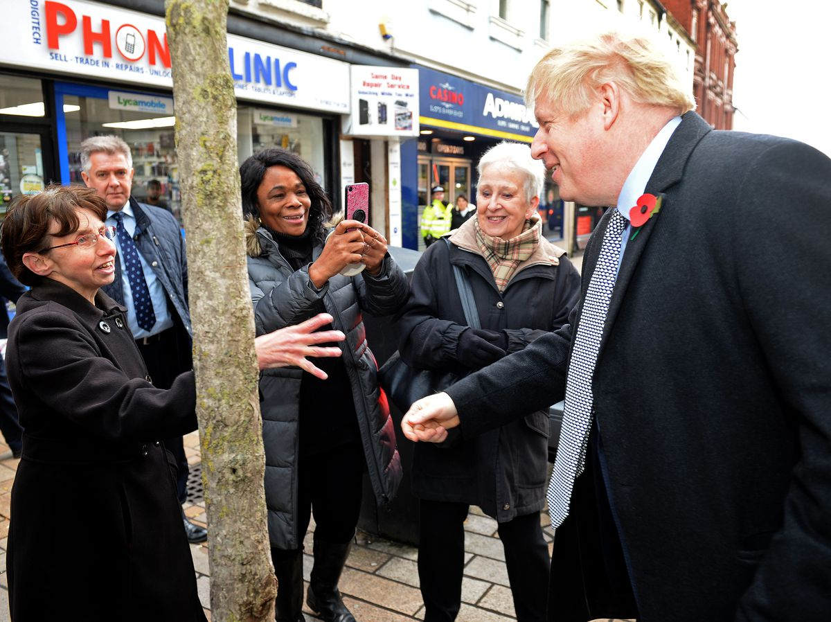 The Prime Minister meets locals on Queen Street in Wolverhampton