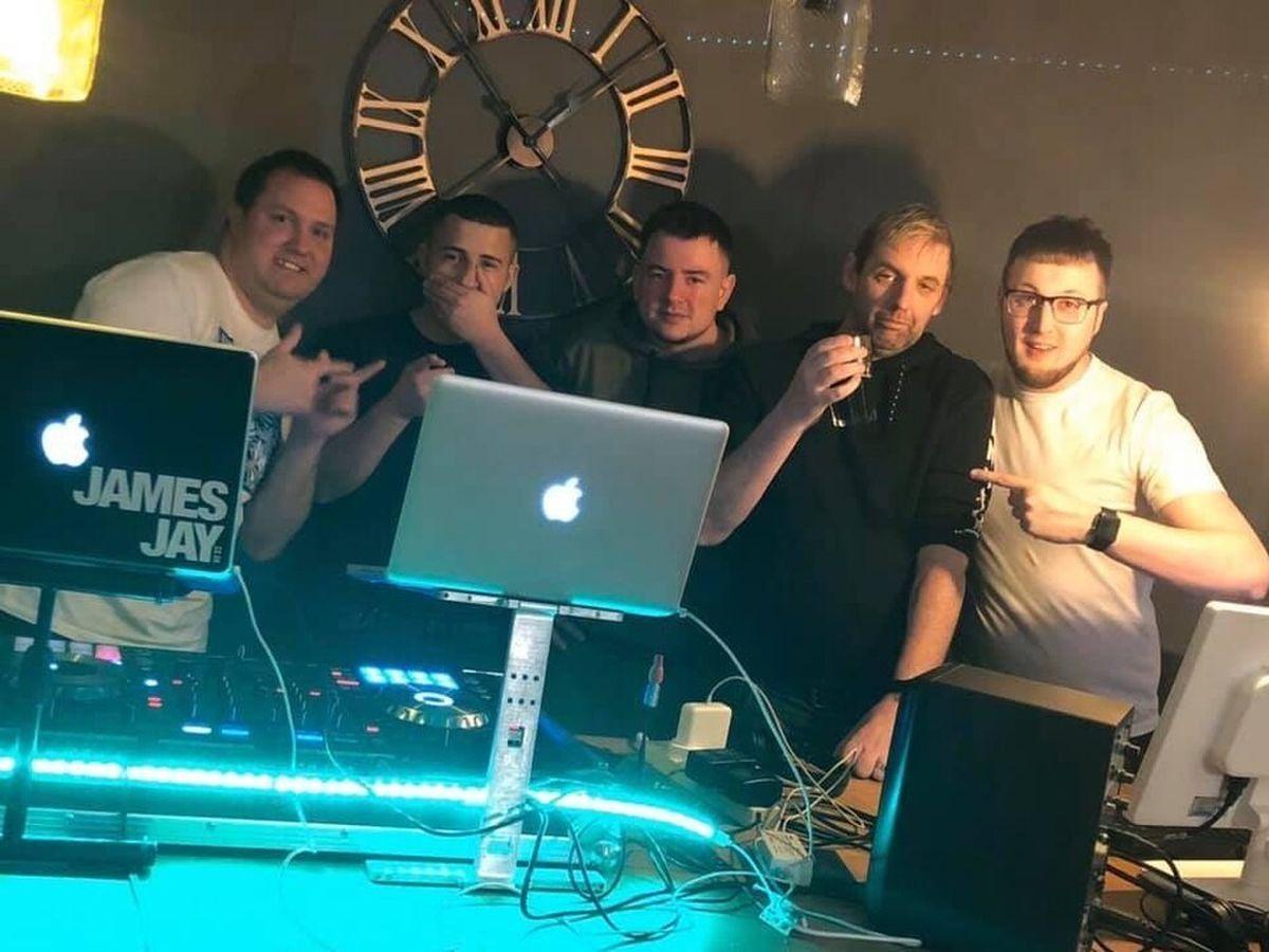 James McQuattie and Jordan Bruus hosted a live DJ event