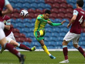 Matheus Pereira of West Bromwich Albion fires a shot at goal but fails to score. (AMA)