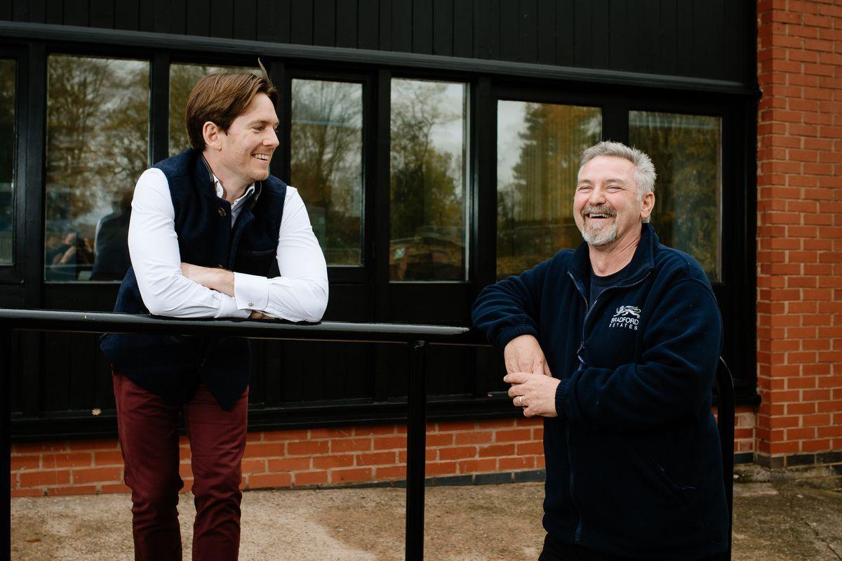 Viscount Alexander Newport with Vince Derry