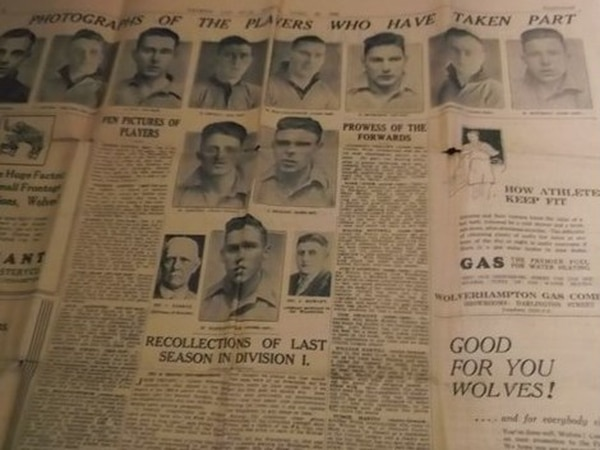 Four-page E&S supplement celebrating Wolves' 1932 promotion up for auction