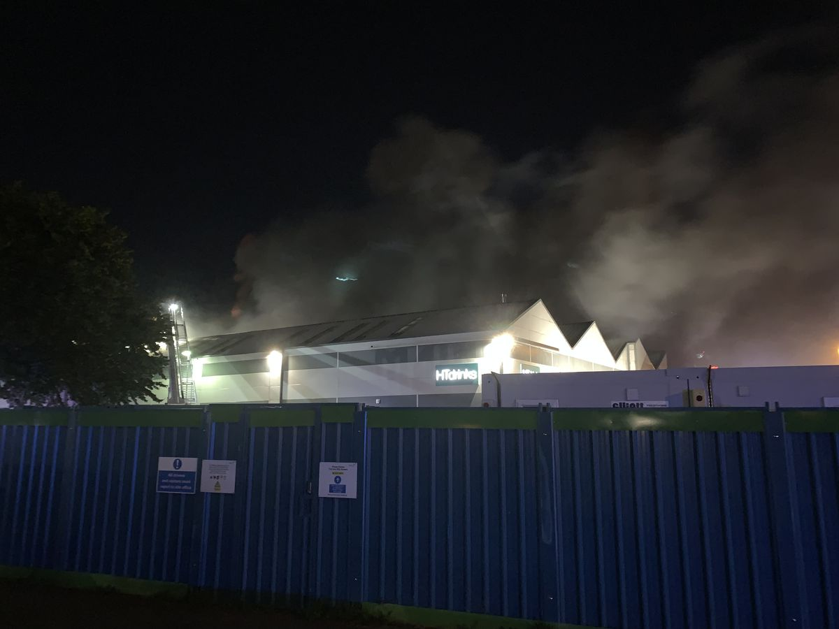 Smoke was seen pouring out of the building. Photo: West Midlands Fire Service