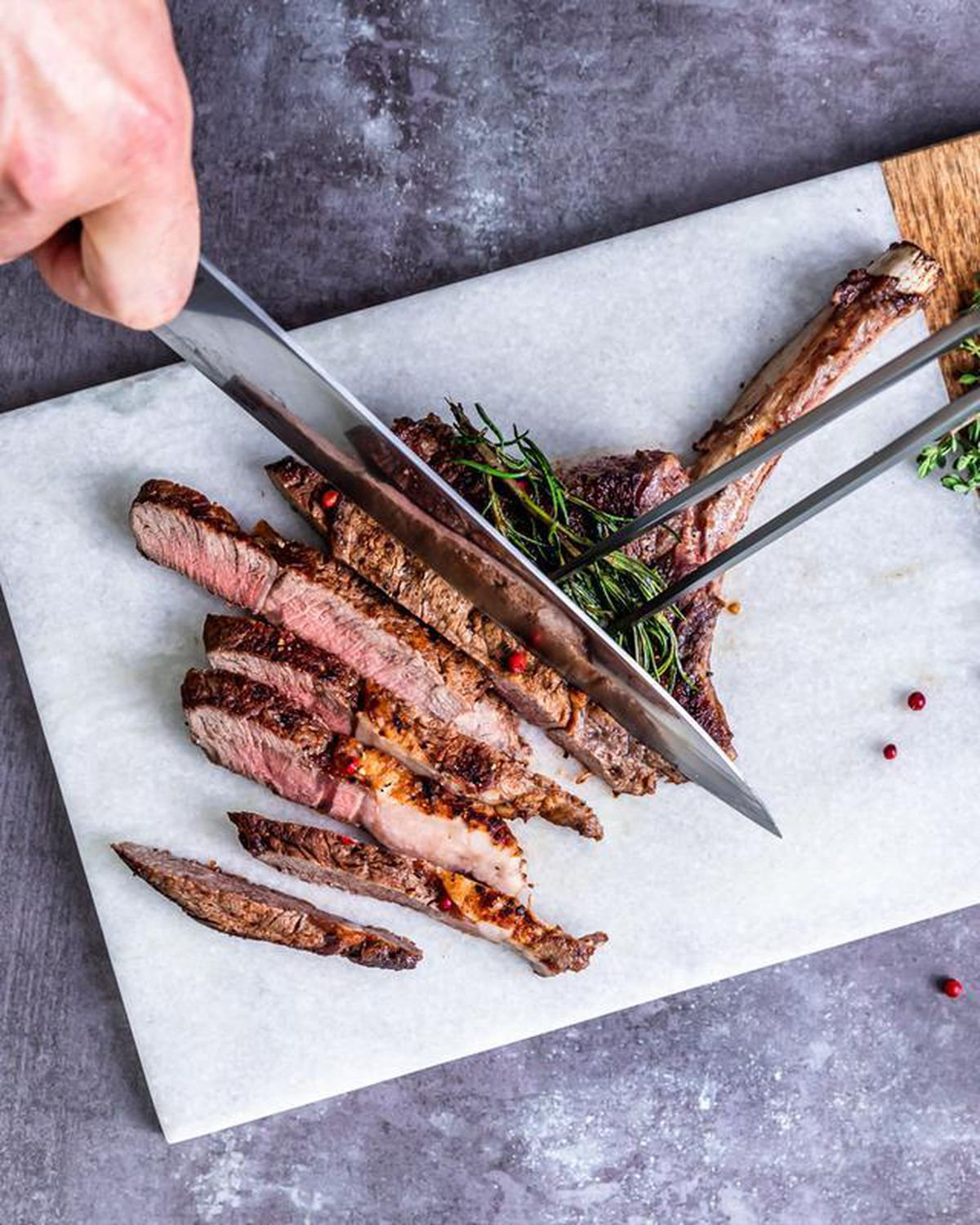 There's a butchery, as well as pop-in-the-oven meals