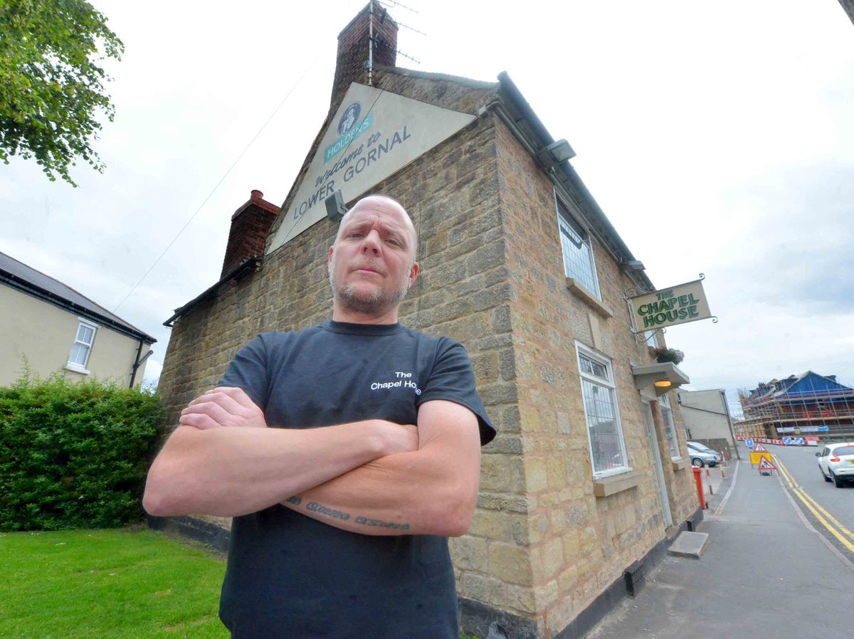 Manager James Stevens says trade has been hit at The Chapel House pub by nearby roadworks