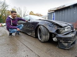 Mechanic watches in horror as stolen digger destroys restored BMW in Dudley