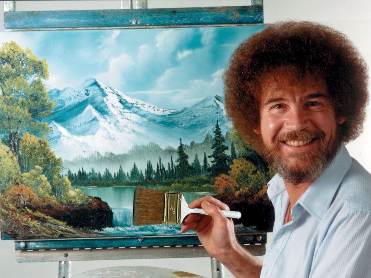 BBC Four shows constant repeats of The Joy of Painting with Bob Ross