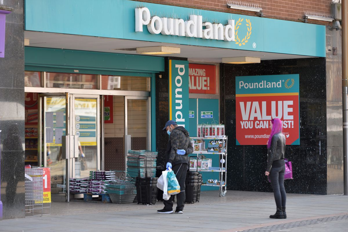 The Poundland store in High street, Dudley