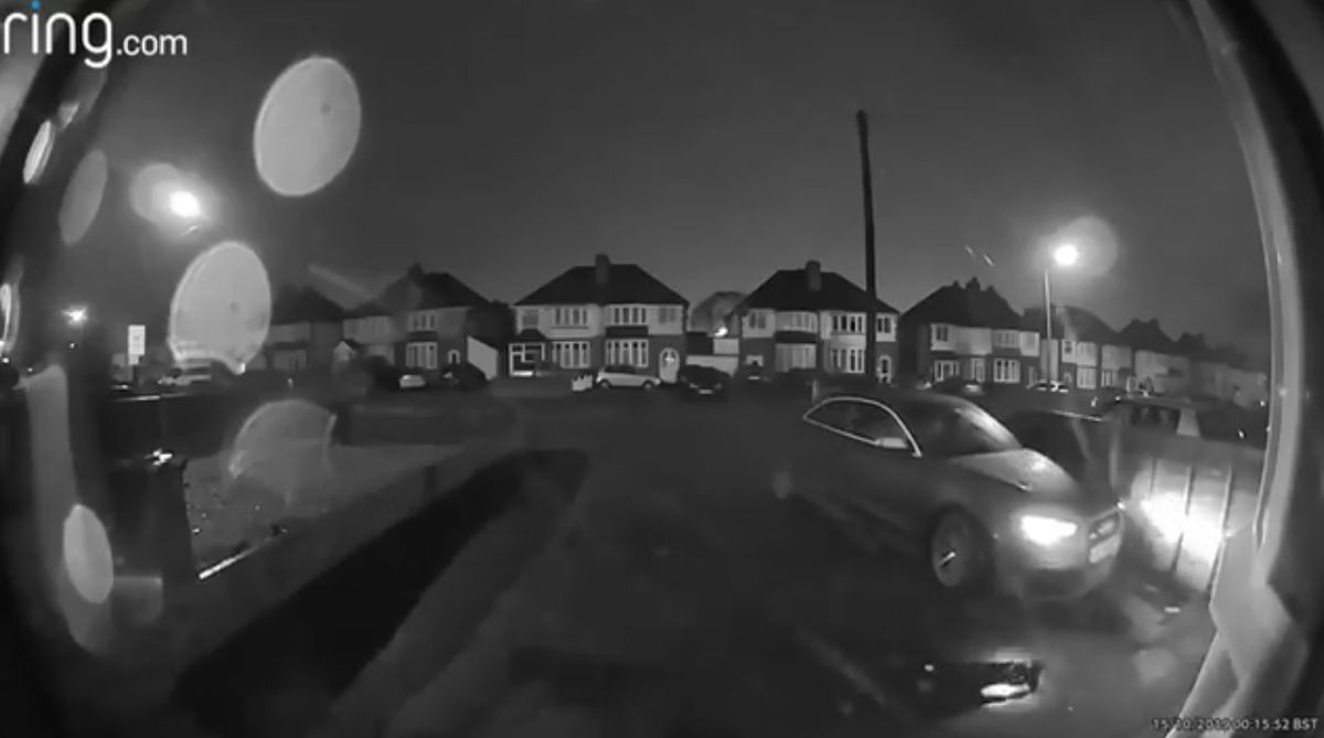 The footage of the thieves stealing the car was captured on a doorbell camera. Photo: LockedDown Vehicle Security
