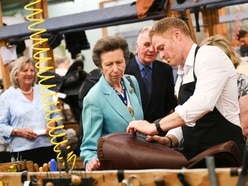 Princess Anne arrives in Walsall to celebrate town's saddle-making heritage