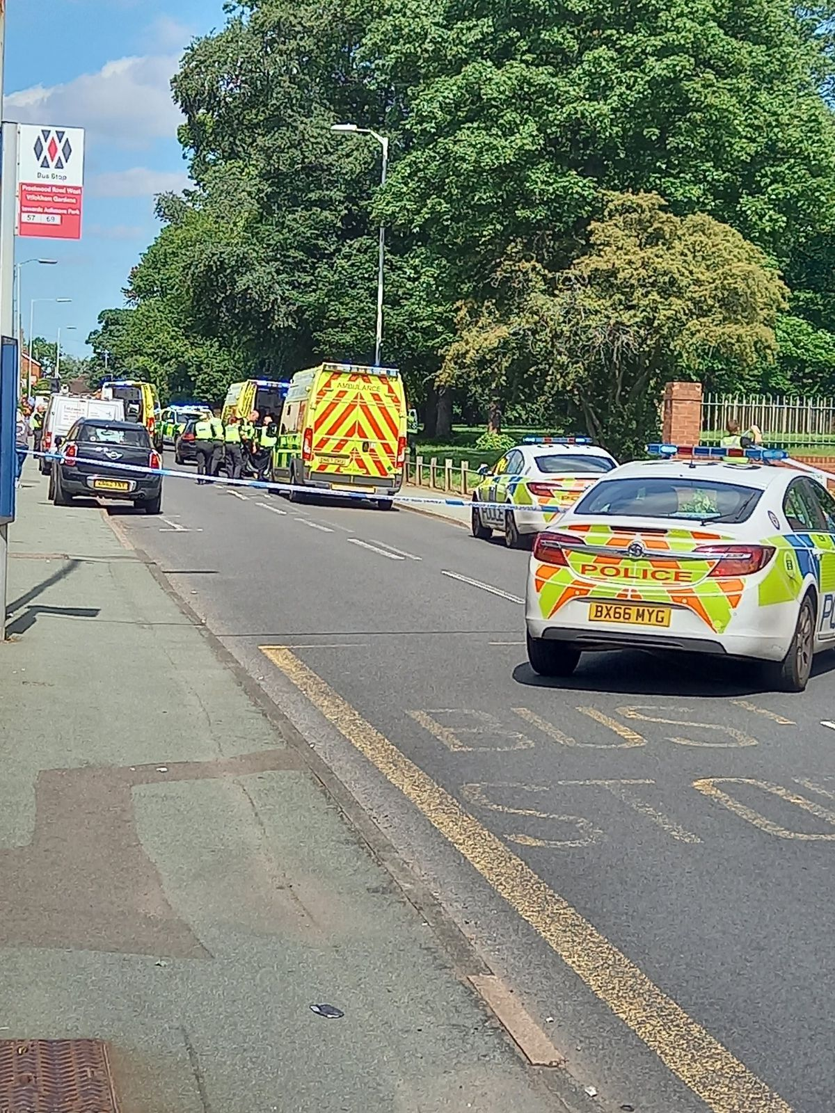 Police, the ambulance service and air ambulance attended. Photo: Marcus27UK