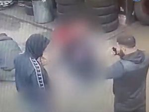 A still of the pair from the CCTV released by police