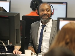 Sir Lenny Henry on hand for A level results day