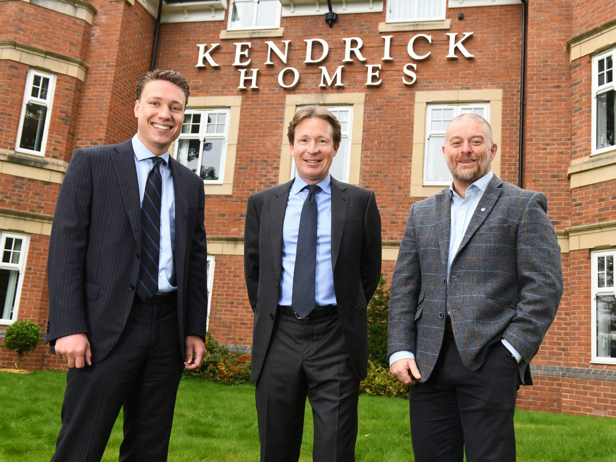 Director Max Kendrick, left, chairman William Kendrick and design director AndyCockayne, right