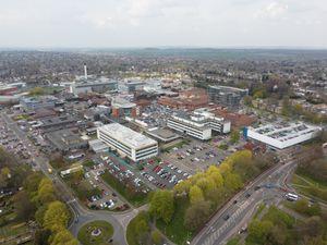 New Cross Hospital in Wolverhampton. Photo: Paul Turner facebook.com/ptaerialphotography