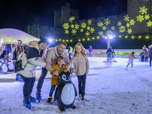 Ice rink at Warwick Castle. Pictures by: Ed Bagnall