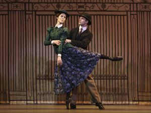 Samara Downs as Maggie Hobson and Lachlan Monaghan as Will Mossop; Photo: Bill Cooper