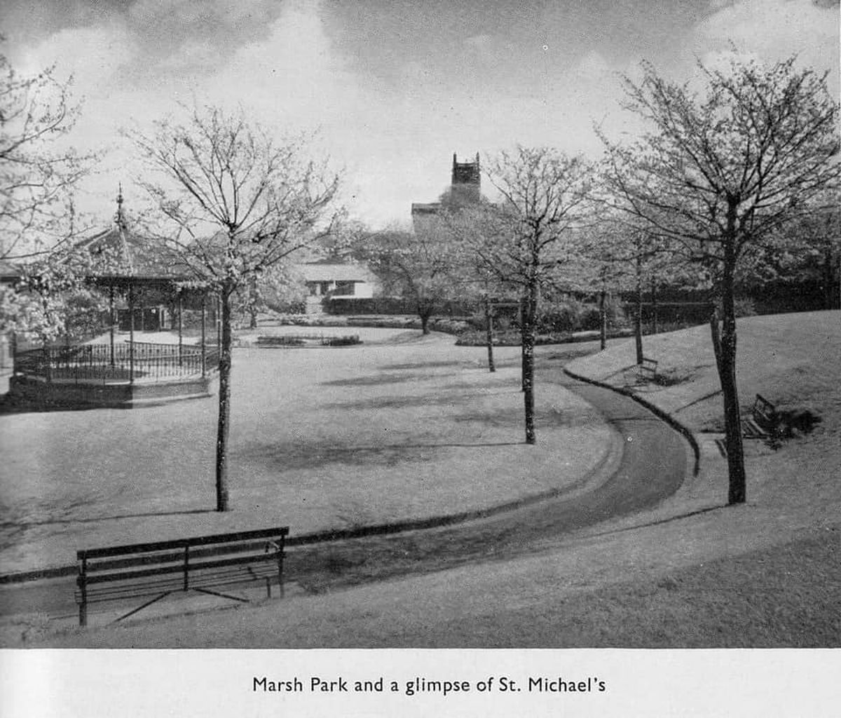 Marsh Park in approximately 1920s after it opened. Photo: Fompalf Friends of Marsh Park & Lawyers Field Brierley Hill & Dennis R Whittaker