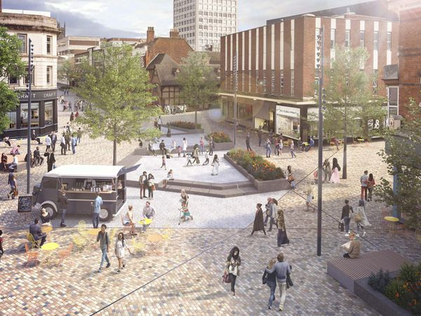 An artist's impression of the planned Victoria Square in the city centre. Photo: Wolverhampton Council