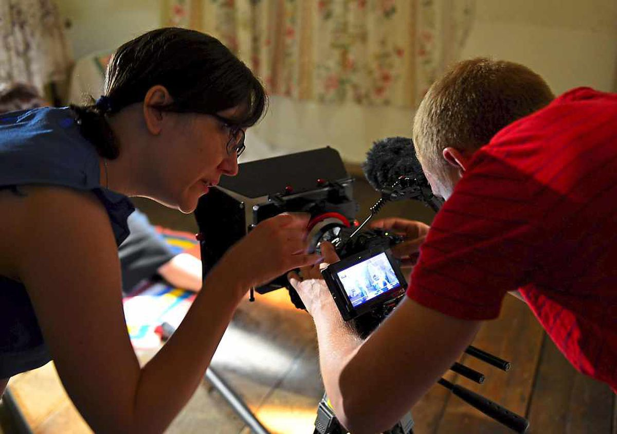 Director Rebecca Harris-Smith on set