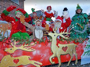 Janet Longdon, Millie Bowker, Sydney Harvey, Isla Harvey , Santa, Adele Bonne, Steve Bowker and Lisa Hagan help to bring some festive fun to Featherstone