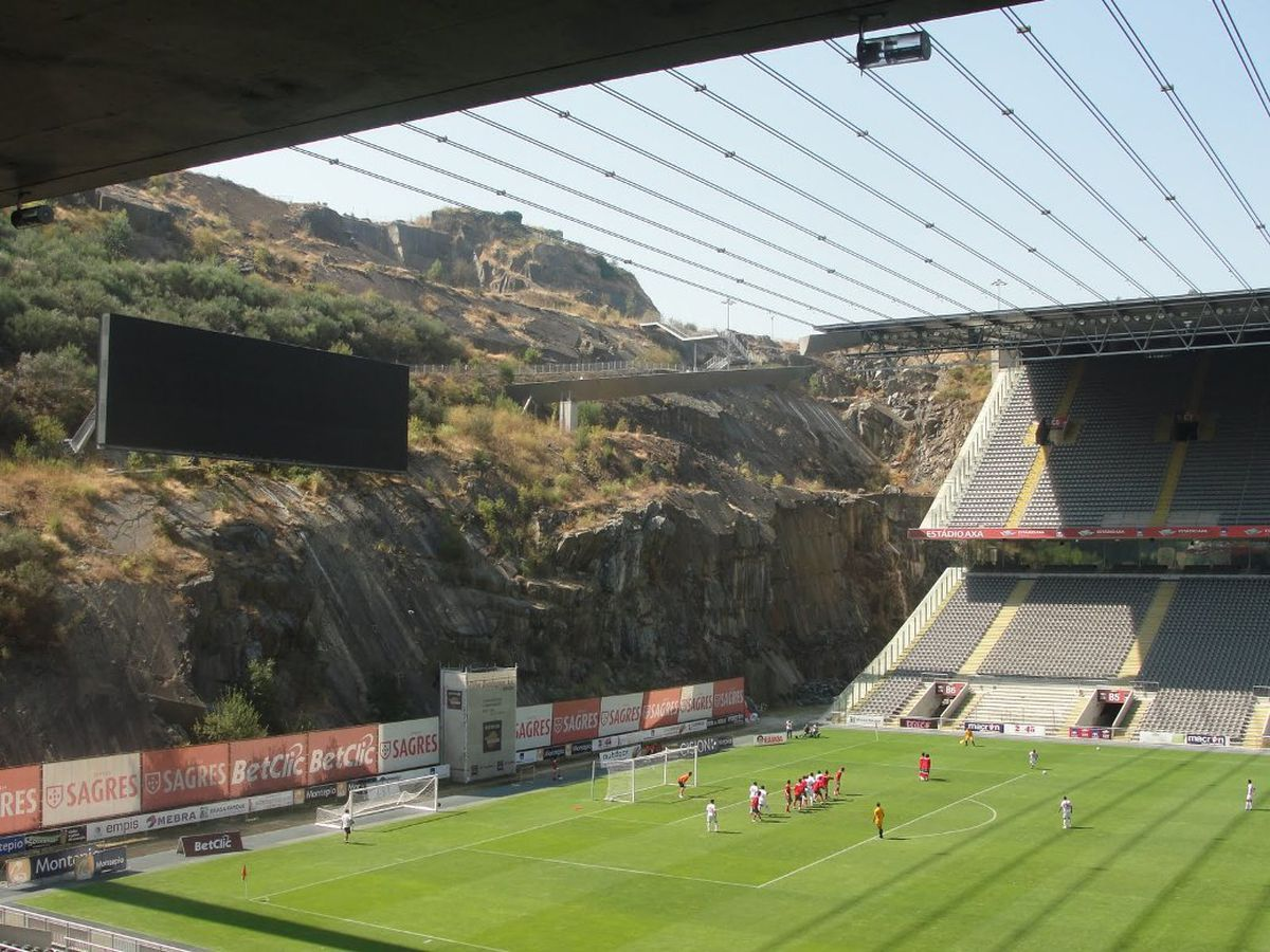 Braga's stadium is carved into a mountain