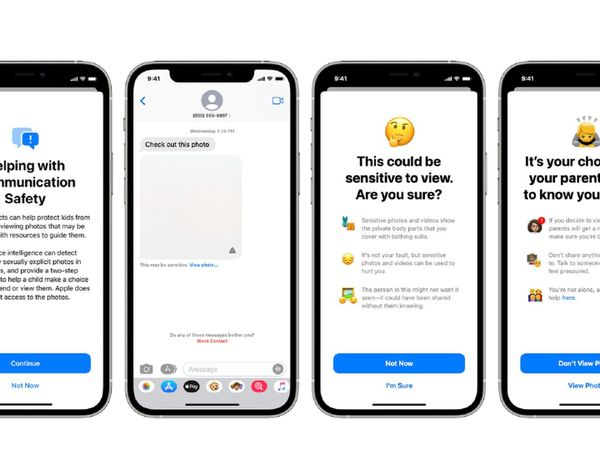 New on-screen alerts for Apple's Messages app designed to boost child safety and protect them from sexual abuse material