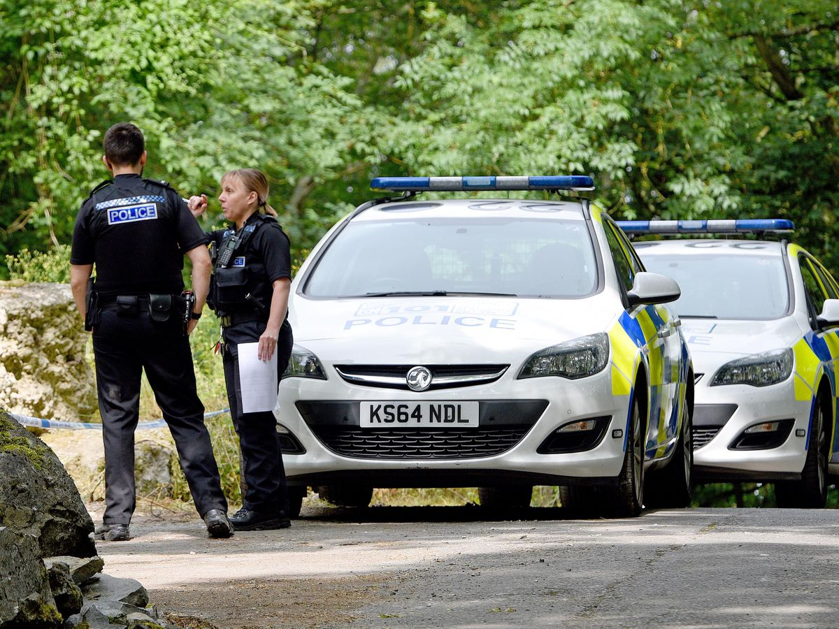 Police have cordoned off the area surrounding Shavers End Quarry