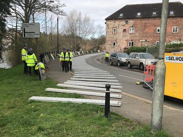 Flood barriers taken down after River Severn warnings subside