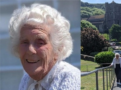 104-year-old woman walks hill outside her care home to raise money for charity