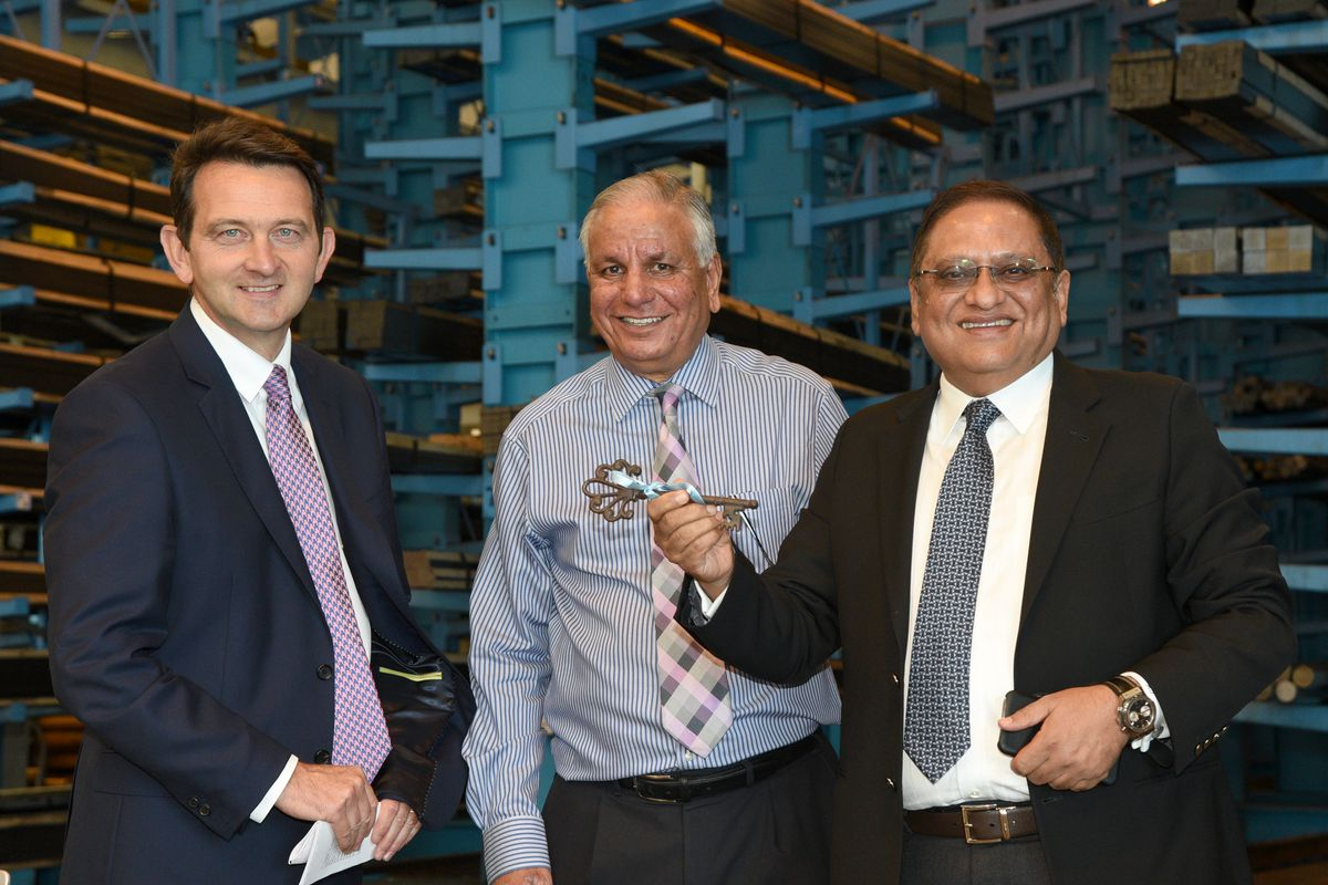 From left, Colin Mills and Tarlok Singh of Acenta with Ravi Trehan of Aar Tee
