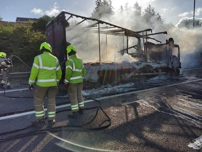 M6 closed as lorry fire brings 90-minute delays and four-mile tailback