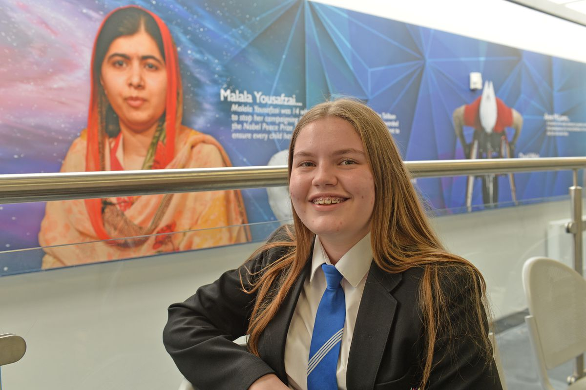Pheobe Baggott said she was pleased to be back in lessons as she preferred that to digital learning