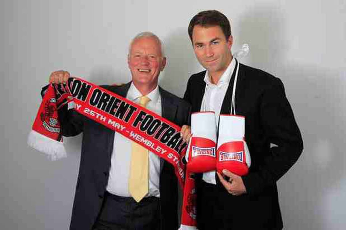 Chip off the old block - Barry with son and now boxing promoter Eddie Hearn.