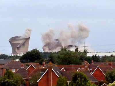 Power cut and reports of 'minor injuries' after power station demolished