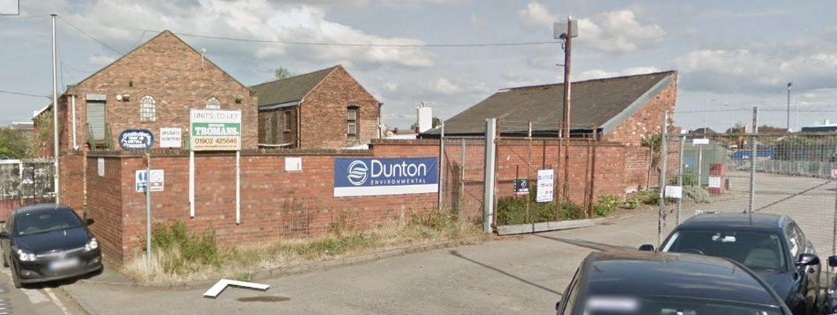 Dunton Environmental Limited in Union Mill Street, Horseley Fields, Wolverhampton. Photo: Google Street View