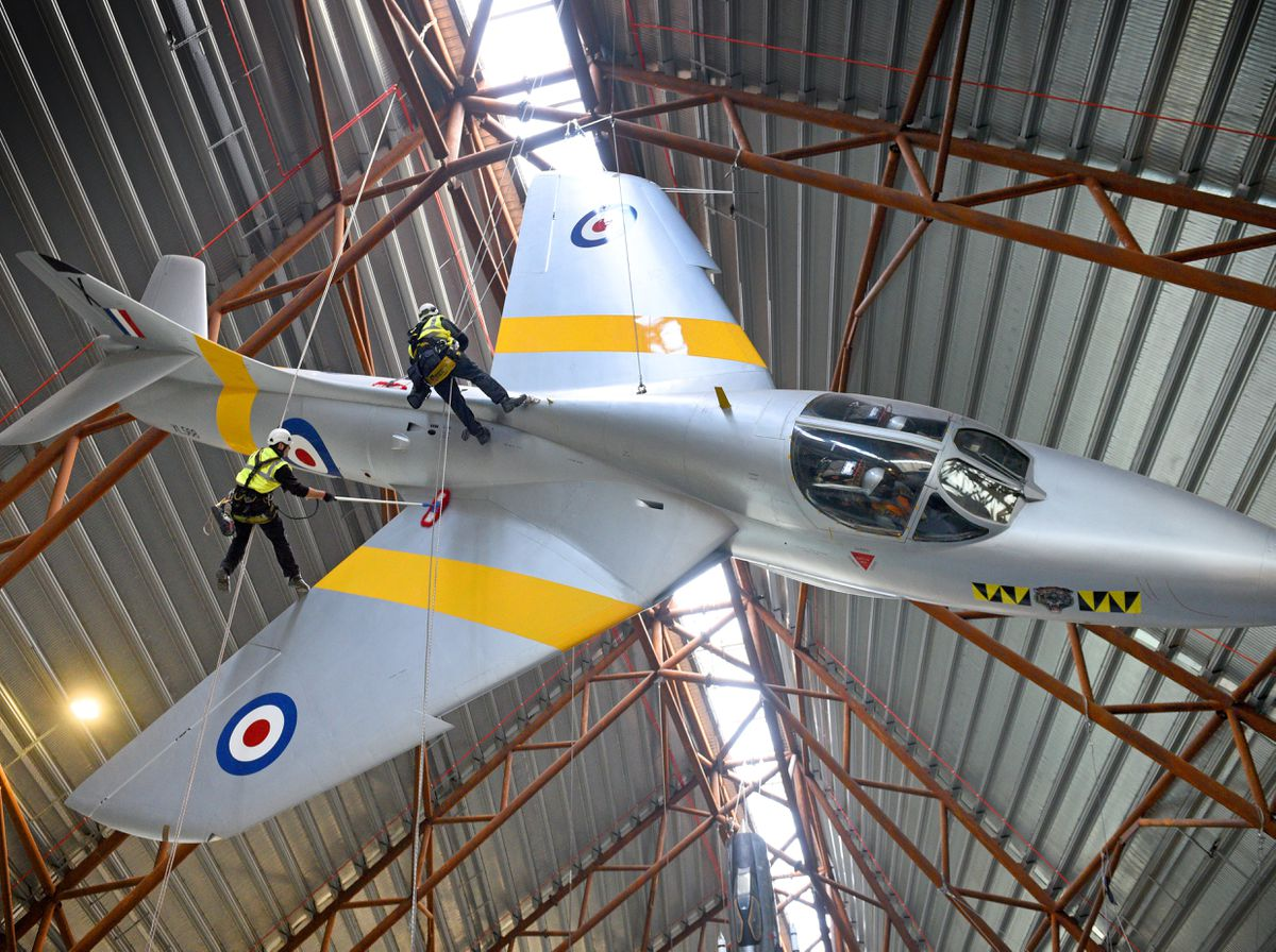 Jet wash! Aircraft get New Year polish at RAF Museum Cosford - with VIDEO and PICTURES