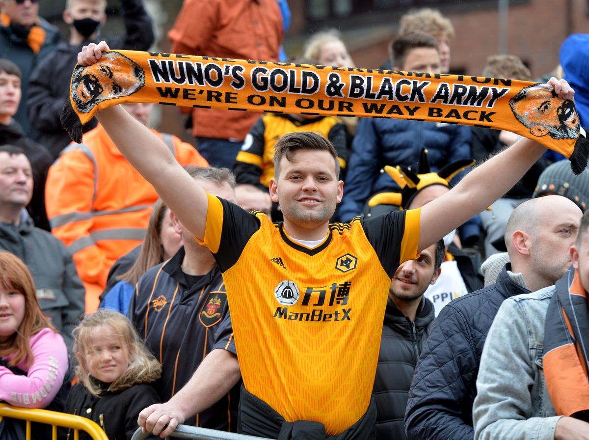 Wolves fans returned to the Molineux for the first time in 14 months for their home game against Manchester United