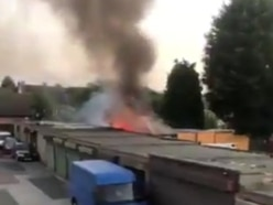 Firefighters tackle blaze at Kingswinford garage